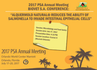 Conference about Alquermold Natural in the annual meeting of the Poultry Science Association