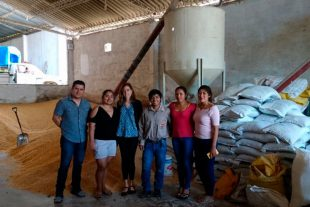 A Biovet commercial-technical team gives a talk at a feed factory in Bolivia in June