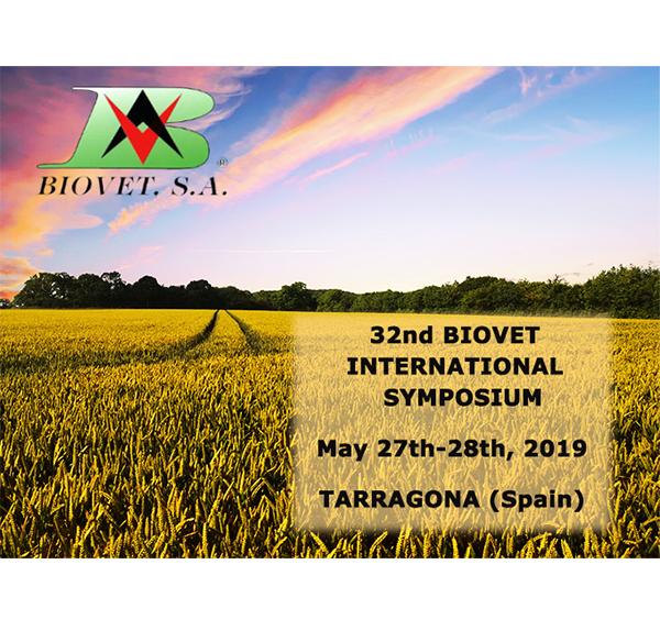 32nd Biovet International Symposium. May 27-28, Tarragona, Spain