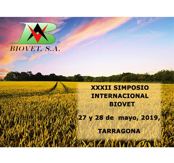 32º Simposio Internacional de Biovet S.A. 27 y 28 de mayo Tarragona