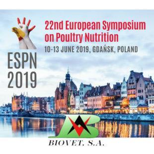Biovet acudirá en junio a la próxima edición del European Symposium on Poultry Nutrition en Polonia