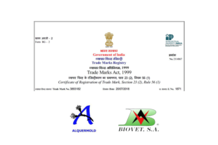 The Alquermold line of natural preservatives registered in India