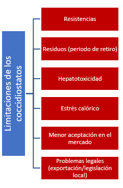 Limitaciones de los coccidiostatos