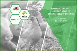 Alquermold Natural y Alquernat Nebsui en China Feed Industry Exhibition